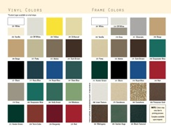 2007 Admiral Furniture Color Samples
