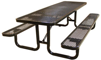 Model TP1661016 Rectangular Expanded Metal Picnic Table