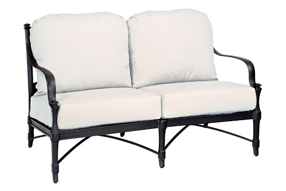 Model W4N0419 Palazzo Cast Aluminum Deep Seating Love Seat