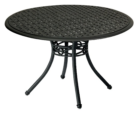Model W854800W04948 Palazzo Cast Aluminum 48in Round Dining Table