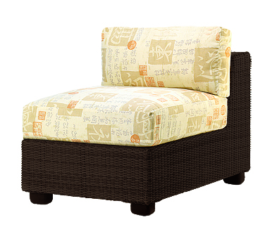 Model WCS511011 All Weather Wicker Armless Sectional Unit