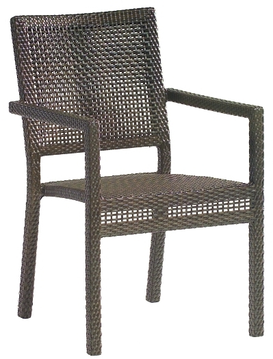 Model WCS601501 All Weather Wicker Dining Arm Chair