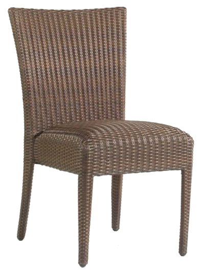 Model WCS593811 All Weather Wicker Padded Seat Dining Side Chair