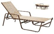 Model 42205SL Stacking Sling Chaise Lounge w/Arms