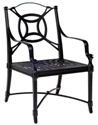 Model W4N0401 Palazzo Cast Aluminum Dining Chair