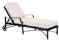Model W4N0470 Palazzo Cast Aluminum Deep Seating Chaise Lounge
