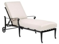 Model W4Q0470 Palazzo Cast Aluminum Deep Seating Chaise Lounge