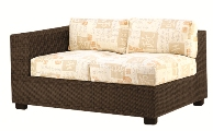 Model WCS511031L All Weather Wicker Love Seat Sectional (Left Arm Facing)