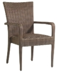 Model WCS593801 All Weather Wicker Padded Dining Chair w/Arms