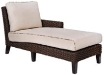 Model WCS520041R All Weather Wicker Chaise Sectional Right Arm Facing