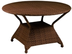 Model WCS594802 All Weather Wicker Round Umbrella Table w/Hole